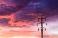 High voltage pylon Stock Photography