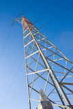 High voltage pylon with statue of lion Royalty Free Stock Images