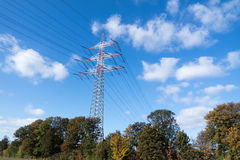 High voltage pylon Stock Photos