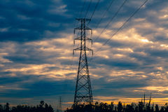 High voltage pylons Stock Images