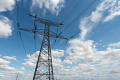 High voltage pylons Royalty Free Stock Photo