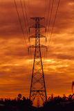 High voltage pylons Stock Photography