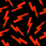 High voltage red sign. Seamless pattern. Royalty Free Stock Image
