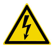 High Voltage Sign. This image shows a alert sign for high voltage stock illustration