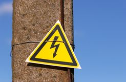 High voltage sign Royalty Free Stock Photos