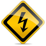 High voltage sign Royalty Free Stock Images