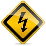 High voltage sign stock illustration