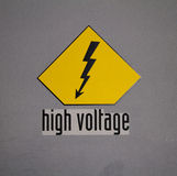 High Voltage Sign Royalty Free Stock Image