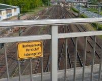 High voltage sign Stock Photos