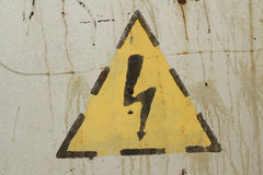 High voltage sign on Stock Images