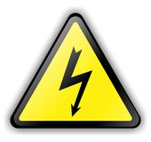 High Voltage Sign 3d Royalty Free Stock Photography