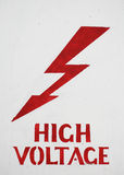High Voltage sign Stock Images