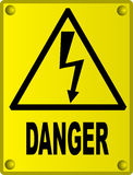 High voltage sign stock illustration