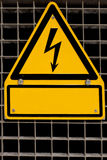 High Voltage Sign with copyspace Royalty Free Stock Photos