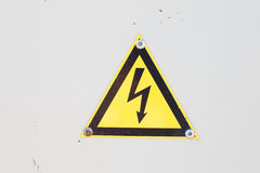 High Voltage Sign. Danger symbol. Warning icon Royalty Free Stock Photography