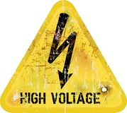 High voltage sign Stock Photography