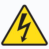 High voltage sign. With lightning. Vector illustration Royalty Free Stock Photos