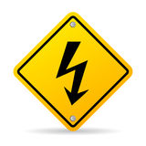 High voltage sign. High voltage lightning warning sign Royalty Free Stock Photos