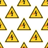 High Voltage sign pattern Stock Image