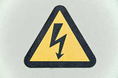 High voltage sign. Royalty Free Stock Image