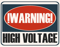 High Voltage Sign. Stock Images