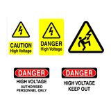 High Voltage Signs Royalty Free Stock Image