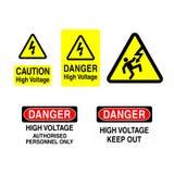 High Voltage Signs vector illustration