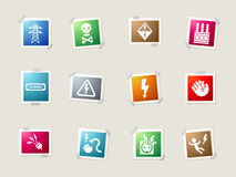 High voltage simply icons Royalty Free Stock Photo