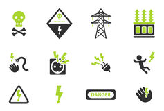 High voltage simply icons Royalty Free Stock Photography