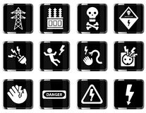 High voltage simply icons Stock Photo