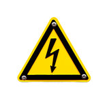 High voltage sing on white background Royalty Free Stock Photo
