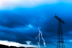 High voltage in the sky Stock Images