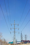 High voltage stands Royalty Free Stock Photo