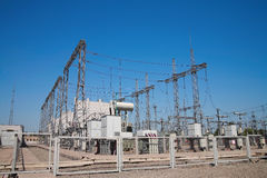 High-voltage station Royalty Free Stock Image