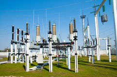 High-voltage substation Royalty Free Stock Photo