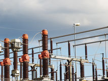 High voltage substation Royalty Free Stock Photography
