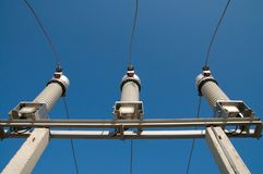 High-voltage substation Stock Images