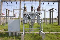 High-voltage substation Royalty Free Stock Photography