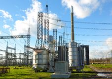 High Voltage Substation Royalty Free Stock Photo