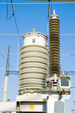 High-voltage substation Stock Image