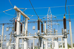 High-voltage substation Stock Photos