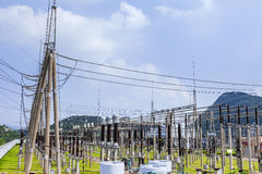 High voltage substation Stock Photography