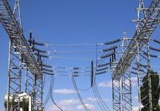 High Voltage Substation Stock Image