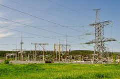 The high-voltage substation Royalty Free Stock Image