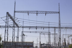 High-voltage substation Royalty Free Stock Photos