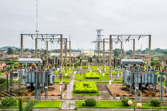 High voltage substation Stock Image