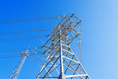 High-voltage support Royalty Free Stock Photo