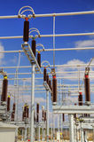 High voltage switchyard Stock Image