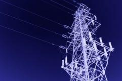 High-voltage tornskybakgrund Royaltyfri Bild