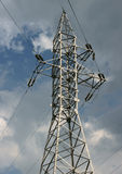 High-voltage tower Stock Images